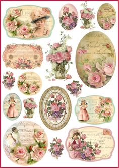 4x Paper Napkins for Decoupage Craft Lovely