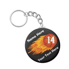 Personalized Cool Flaming Basketball Keychains with the Players NAME, Jersey NUMBER and short Text Message typed into Text Boxes to the right or each product.  Great Basketball Team Gifts. Basketball Stuff with many being Customizable with YOUR NAME and or NUMBER.  All Basketball Gifts CLICK HERE: http://www.zazzle.com/littlelindapinda/gifts?cg=196808750908670951&rf=238147997806552929*/   ALL of Little Linda Pinda Designs CLICK HERE: http://www.Zazzle.com/LittleLindaPinda*/