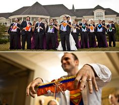 Secret identity wedding. But why do only the men have secret identities?