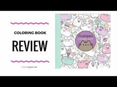 Fans of  Pusheen the cat will love this first coloring book from Pusheen the Cat.  Every page is filled with images of this popular internet celebrity in a fun and light hearted coloring book for both children and adults.   - click to see the coloring book review of Pusheen the Cat Coloring Book illustrated by Claire Belton
