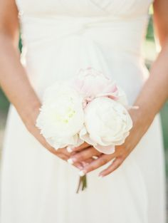 Simple bouquet: http://www.stylemepretty.com/little-black-book-blog/2014/10/10/romantic-pink-wedding-at-griggs-reservoir-boathouse/   Photography: Jeremiah & Rachel Photography - http://jeremiahandrachel.com