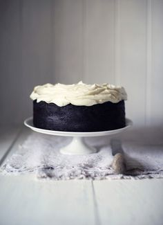 Nigella Lawsons Guinness chocolate cake. Yum, totally should get the recipe for this!
