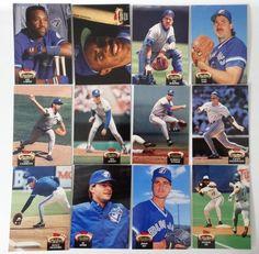 1992 Topps Stadium Club Series 1 Toronto Blue Jays Team Set of 12 Baseball Cards #topps #TorontoBlueJays