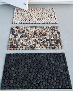 DIY Pebble Door Mat for when you step out of the shower