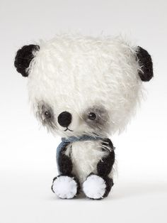 Mohair Panda Bears | New mohair panda little bear