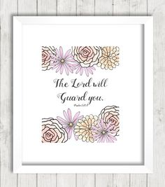 Psalm 121:8 Printable The Lord Will Guard by FourthAvePenandInk