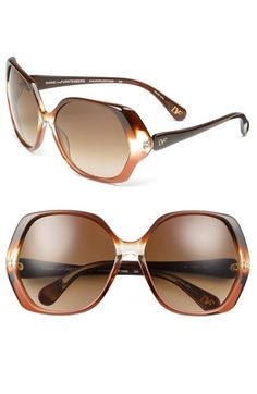 d8419261a0afd6 Diane von Furstenberg Oversized Sunglasses   Nordstrom - StyleSays Verre  Correcteur, Lunettes De Soleil,