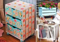 15 Painted Wooden Crate Projects That Are Just Amazing - http://www.amazinginteriordesign.com/15-painted-wooden-crate-projects-that-are-just-amazing/
