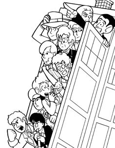 Lineart For A Doctor Who Print Im Working On Printable Colouring Pages