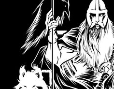Odin in vectors. work made for fiverr client New Work, Darth Vader, Behance, Gallery, Check, Behavior