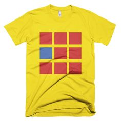 Eight Red Squares with One Blue Square Men's T-shirt