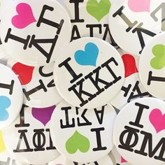 Show your letters some love! #love #greek #sorority #pin #sassysorority #bidday #recruitment
