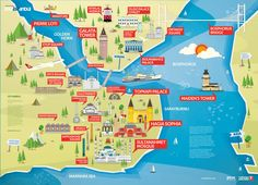 tourist map of istanbul - Google Search More
