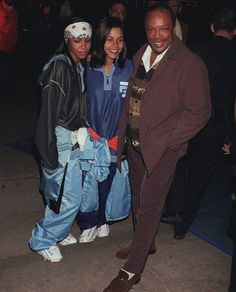 Aaliyah and her bff Kidada at the Batman and Robin premiere in '97 (RARE)