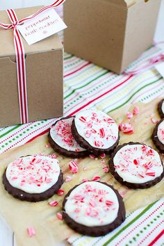 peppermint bark cookies, also adding this to the repertoire this season, but I'm leaving the chocolate bottoms off - too complicated!