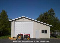 Image on washington garages post frame shops pole barns for Pole barn for rv storage