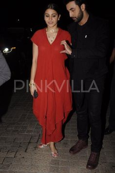 Ranbir and Anushka are ecstatic after catching a screening of ADHM