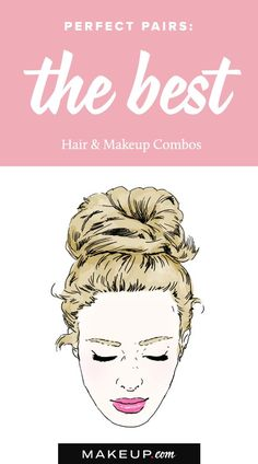 Pairing a beautiful hairstyle with a pretty makeup look is about as important as pairing shows with your favorite outfit. It's important that the two looks balance each out, and we've come up with a handful of easy DIY beauty combinations that you'll want to try all week.