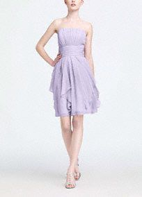 A simple silhouette gets a modern update for a look that is ultra feminine.  Flowing chiffon cascades from the waist toshape loose, romanticlayers.  Pleated bodice adds dimension and flatters all figures.  Soft chiffon moves with the body to create a mesmorizing overall look.  Fully lined. Back zip. Imported polyester. Dry clean only.  Available in our exclusive 44 color palette.  Get inspired by our colors.