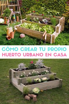 Cómo hacer tu propio huerto urbano. #huertos #huertoscaseros #huertosurbanos #huertas #autocultivo #estiloydeco Growing Greens, Go Green, Outdoor Gardens, New Homes, Exterior, Organic, House Design, Outdoor Decor, Flowers