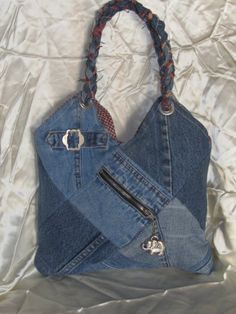 Quilted Elephant Denim Purse For Girls and Teens. $18.00, via Etsy.