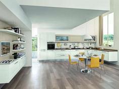 cucina a parete color blu con isola bianca | arredissima cucine ... - Quanto Costa Una Cucina Lube
