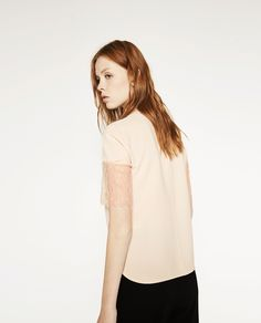 TOP WITH LACE TRIM SLEEVES - View all - WOMAN - NEW IN | ZARA United States
