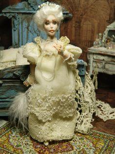 OOAK Dollhouse Miniature 5.5 inch Poseable Doll by LoreleiBlu, $98.00