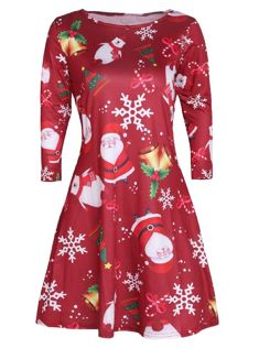 Elecenty Long Swing Dress Christmas Print Dresses Christmas Dress LadiesChristmas Round Neck Dresses Pullover Women Blouse Long Sleeve Party Dress Sweatshirts Mini Dress (M Red) Christmas Print Dresses, Christmas Jumper Dress, Christmas Dress Women, Xmas Dresses, Womens Christmas, Christmas Clothes, Christmas 2017, Vintage Christmas, Christmas Tree