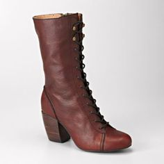 FOSSIL Shoes Boots & Booties:Womens Shay High Heel Lace Boot FFW4169