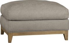 """Taraval 24"""" Ottoman with Oak Base    Crate and Barrel"""