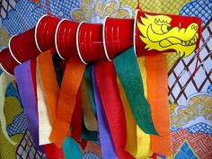 Ideas, Cool DIY Chinese New Year Crafts With Red Chinese Dragon From Red Picnic Cup: Inspiring Chinese New Year Crafts Design