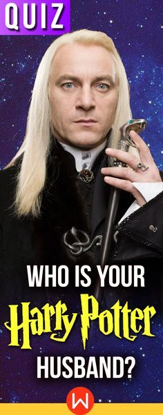 A quiz that will determine once and for all which wizard from the Harry Potter series is destined to be your husband! I got draco again Harry Potter Couples, Harry Potter Quiz, Harry Potter Theme, Harry Potter Characters, Lucious Malfoy, Soulmate Quiz, Boyfriend Quiz, Hp Quiz, Hogwarts