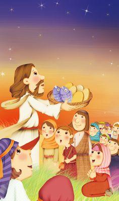 [이미지몰] 오병이어를 축사하시는 예수님 - 피콕