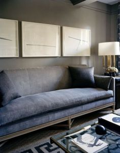 Dark Walls Dark Sofa, Consider Your Furniture Colors When Selecting A Wall  Color. This Sofa Blends Into The Walls Even Though Itu0027s A Bluer/cooler Gray  Than ...