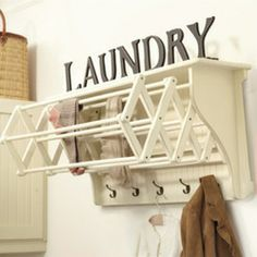 Corday Accordian Drying Racks  This is a great idea for over my washer and dryer