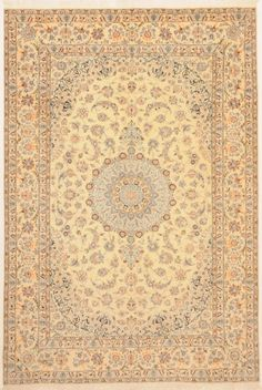 Nain Woven: Hand Knotted Size: 6'6″ X 9'7″