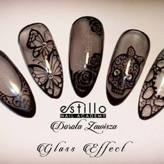 Estillo Sheer Black Nails