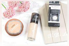 L'Oréal Lumi Cushion Foundation, Revlon Colorstay Foundation, e.l.f. setting powder