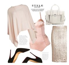 """""""In the Nude..."""" by hattie4palmerstone ❤ liked on Polyvore featuring Christian Louboutin, Fleur du Mal, Alice + Olivia, 81 Hours and 3.1 Phillip Lim"""