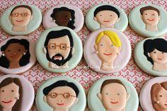Portrait CookiesCaricaturePersonalized by katiesomethingsweet,