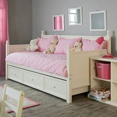 Adorable Daybeds For Girls With Trundle And There Are Doll