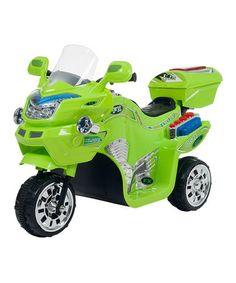 Look what I found on #zulily! Green Three-Wheel FX Sport Bike #zulilyfinds