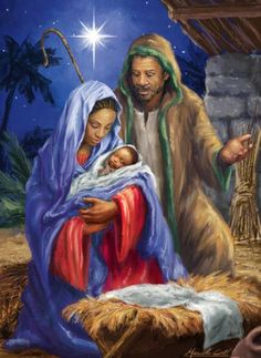 Vermont Christmas Company Heaven's Gift Advent Calendar with Nativity Story Black Nativity, Christmas Nativity Scene, Christmas Scenes, Christmas Pictures, African American Art, African Art, Mary Had A Baby, Blacks In The Bible, Black Love Art
