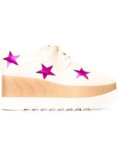 STELLA MCCARTNEY 'Elyse Star' Lace-Up Shoes. #stellamccartney #shoes #flats