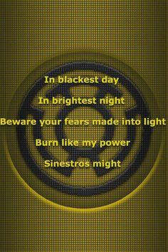 Yellow Lantern corps oath