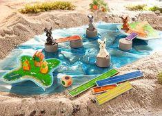 Segíts a Nyúlsziget lakóinak, hogy időben betakaríthassák a sárgarépát! A feladat nem könnyű, ugyanis a répa másik szigeten van, ők pedig nem tudnak úszni.