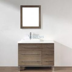 42 Inch Single Sink Bathroom Vanity in Smoked Ash UVABGISA42