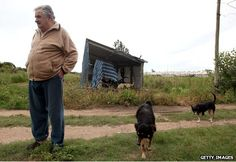 Jose Mujica: The world's 'poorest' president [food for thought here]. By Vladimir Hernandez, at BBC Mundo, Montevideo Montevideo, World Leaders, Bbc News, Life Is Good, The Originals, Politicians, State Farm, Political Leaders, Uruguay
