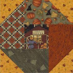 Free Quilt Pattern: Harvest House Block